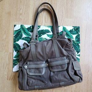 🌿Junior Drake Megan Gray Leather Satchel🌿